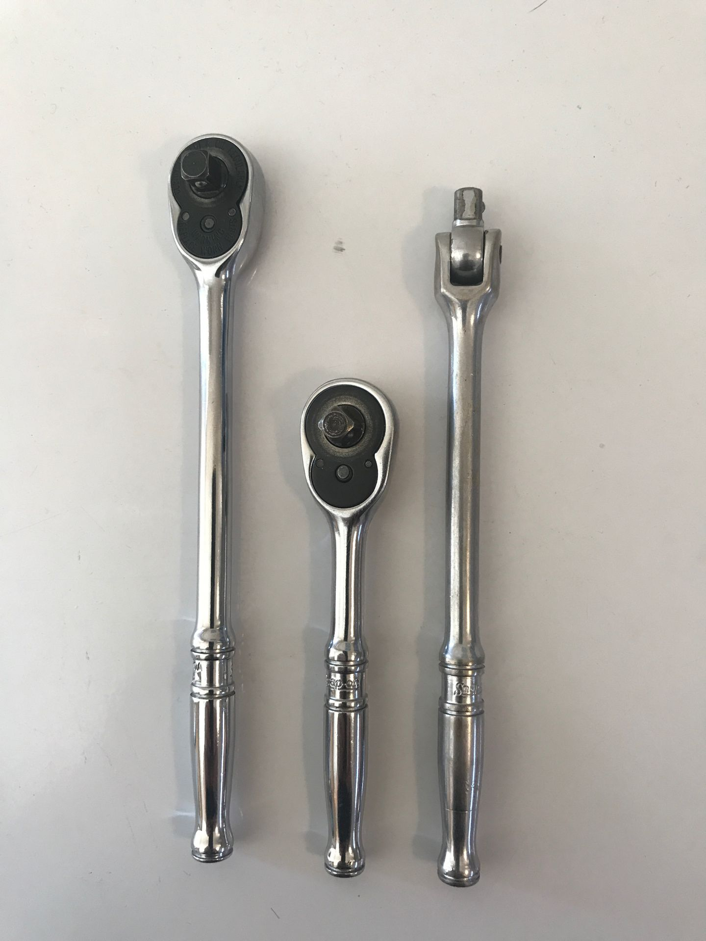 """Snap-On 1/4"""" drive Ratchets and Breaker Bar"""
