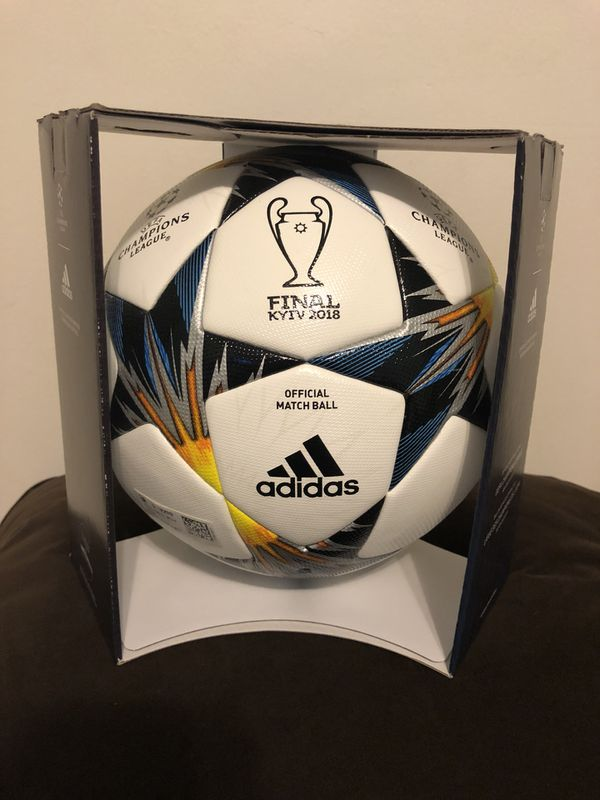 8acc15183 Adidas UEFA champions League Finale Kiev 2018 Official Match Ball Size 5 in  adidas display box