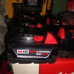 New M18 5.0 Batteries 65 Each Thumbnail