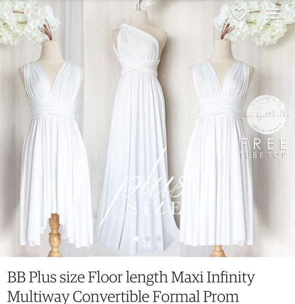 White short infinity dress in plus size (Clothing & Shoes) in ...