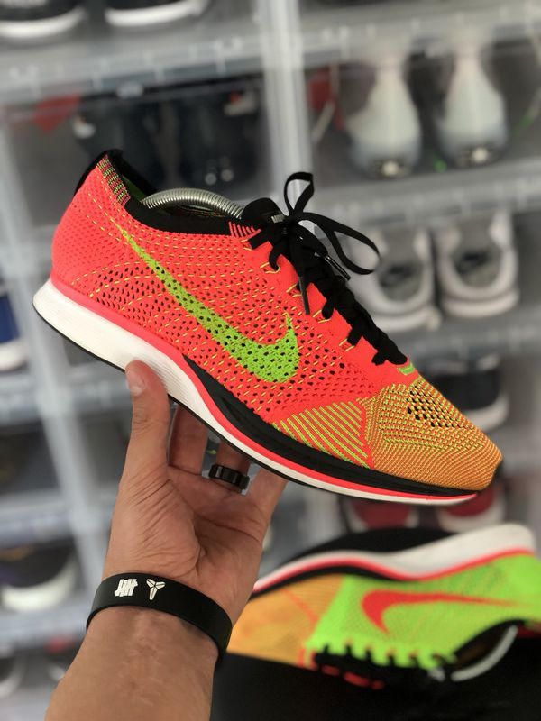 b8080842fb3f 2014 Nike Running Flyknit Racers Hyper Punch Volt — Size 10.5 for ...