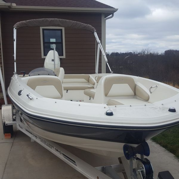2017 stingray 182sc deck boat with 115hm suzuki motor and trailer