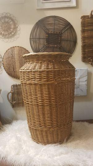 Large Wicker Basket Hamper Blanket Holder Decor for Sale in Alexandria, VA