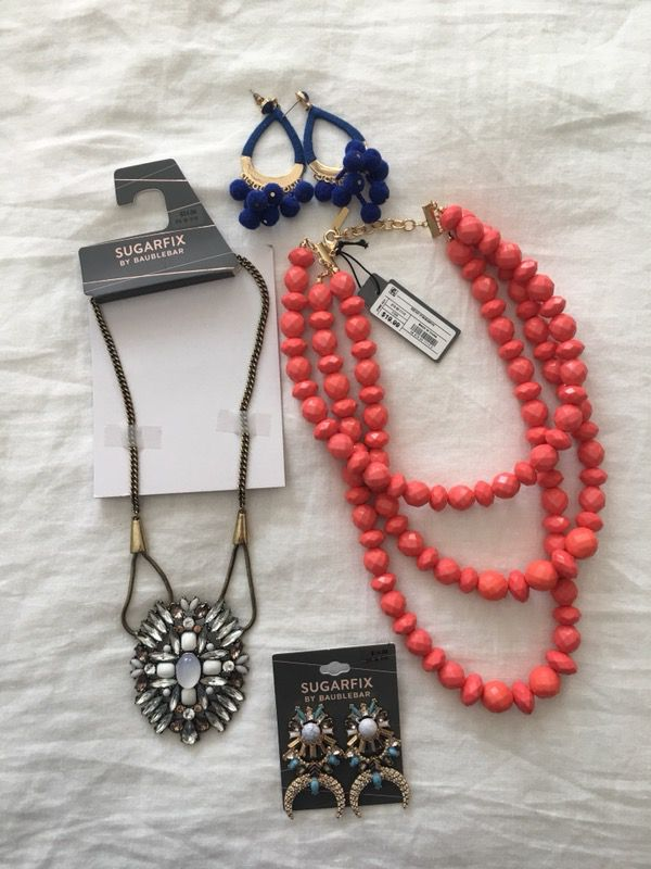 BaubleBar by Sugarfix jewelry earrings necklaces for Sale in Fort Worth, TX  - OfferUp