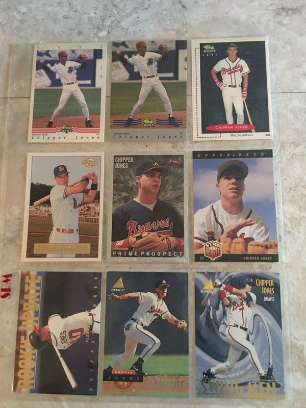 9 Different Cards Of Chipper Jones For Sale In Salisbury Nc Offerup