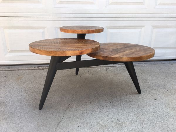Wood And Metal Multi Level Coffee Table.Wood And Metal Multi Level Coffee Table By World Market For Sale In Lynwood Ca Offerup