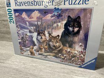 "Ravensburger 16012 Wolves 2000 Piece Puzzle- Softclick Technology 29.5""x30.5"" Thumbnail"