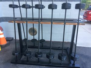 CAST IRON WEIGHT SET WITH RACK STAND- Delivery available for Sale in Washington, DC