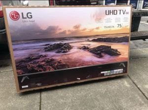 """LG 75UJ657A 75"""" 4K UHD HDR LED Smart TV 2160p (FREE DELIVERY) for Sale in Tacoma, WA"""