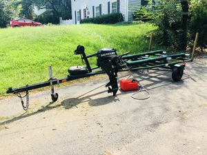 Boat motor and trailer for Sale in Springfield, VA