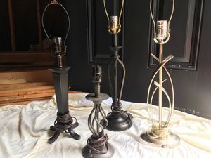 Small and medium lamp stands with shades for Sale in Charlottesville, VA