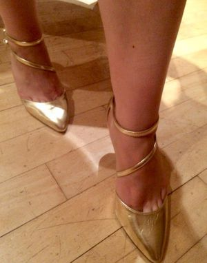 ASOS gold mid heel pump for Sale in Fort Washington, MD