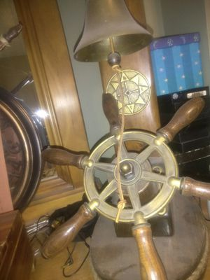 Lamp with boat wheel for Sale in Cleveland, OH