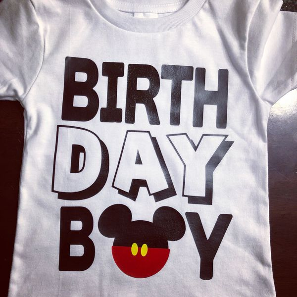 Mickey Birthday Boy Disney Shirts Custom T Shirt Mouse
