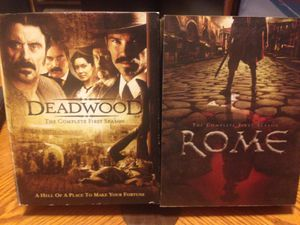 Photo Complete 1st Seasons of both HBO hit shows Deadwood and Rome