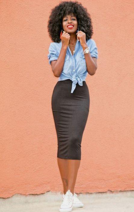 Soft denim blouse