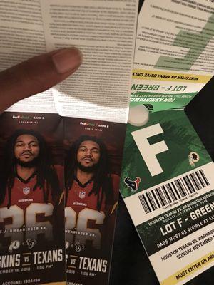 Washington Redskins VS Houston Texans *** Good Seats with Parking*** for Sale in Washington, DC