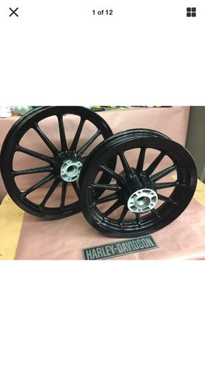 Harley FXR DYNA 13 spoke mags 25mm gloss black for Sale in Bloomington, CA  - OfferUp