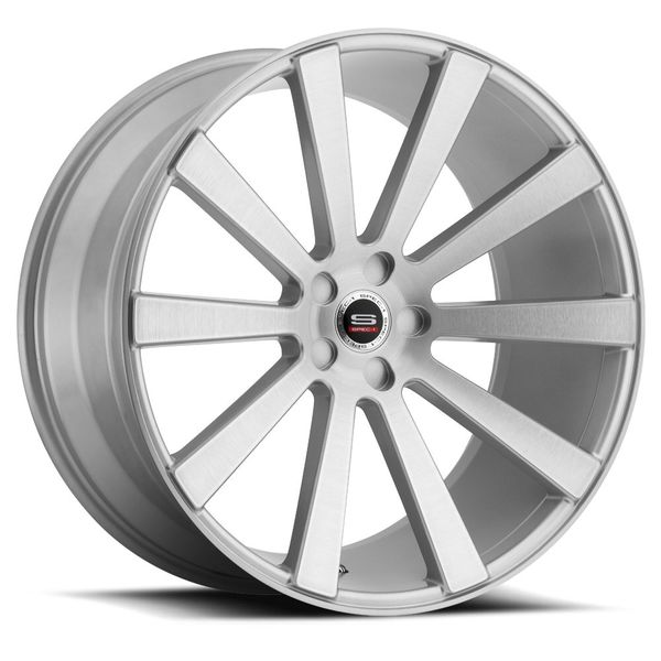 "New 20"" Staggered Spec-1 Monospec Silver Polish Rims"