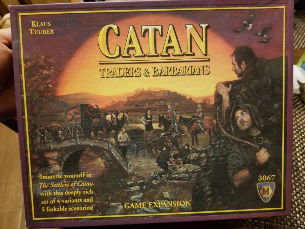 Catan expansion board game traders and barbarians