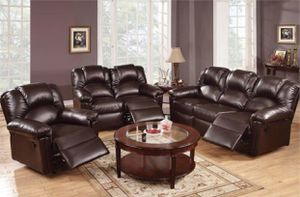 3 pcs Brown Reclining ser brand new in boxes for Sale in Hialeah, FL