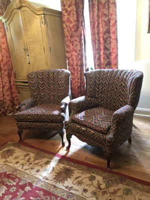 Antique Wingback Chairs Reduced For In Baton Rouge La