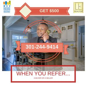$500 Referral fee for Sale in Herndon, VA