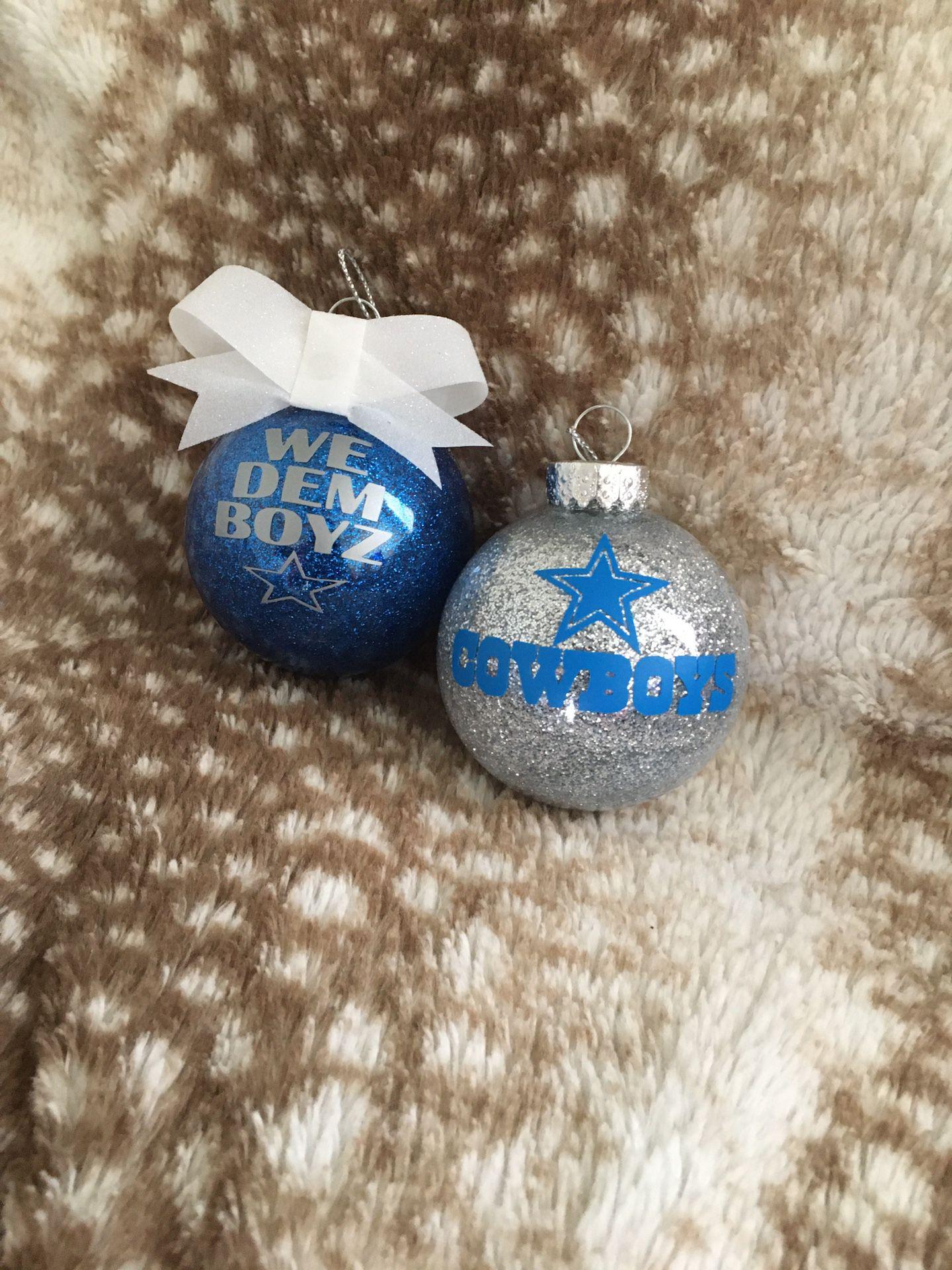Cowboys Christmas ornaments