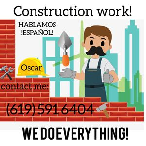 construction we do everything for Sale in Chula Vista, CA