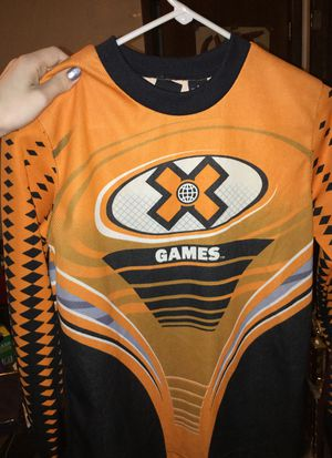Little kids dirtbiking outfit x games small for Sale in Amherst, OH