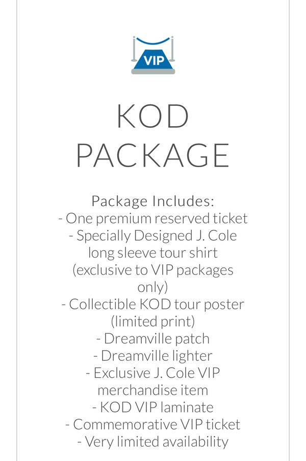 2 kodvip tickets j cole concert 8252018 for sale in los angeles open in the appcontinue to the mobile website m4hsunfo