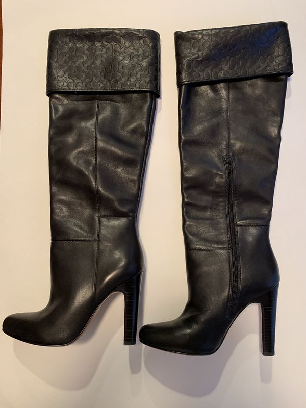 2019 hot sale look for top design Coach black leather knee-high boots for Sale in Lake Forest, CA - OfferUp
