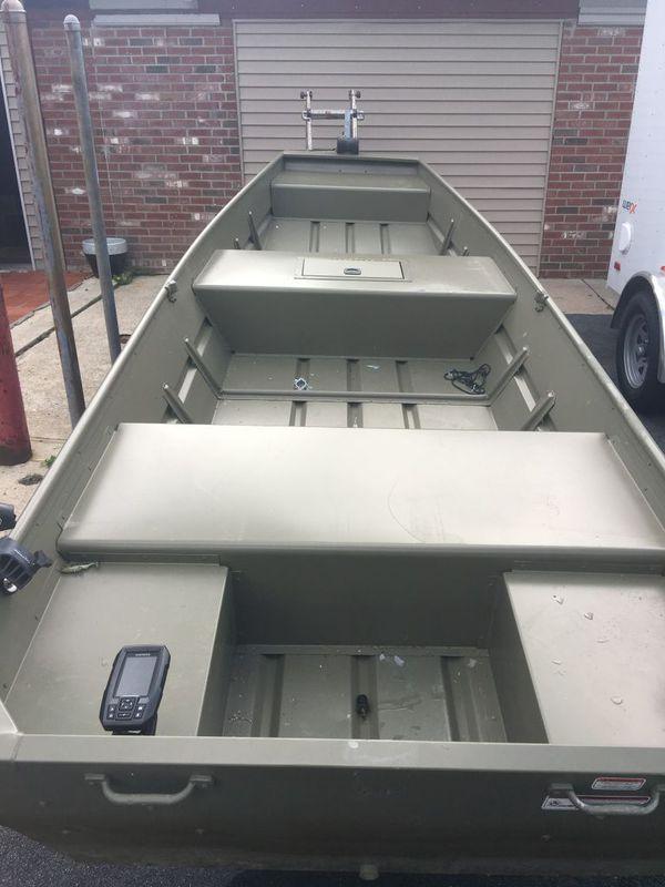 15 Ft Tracker Jon Boat With Trailer