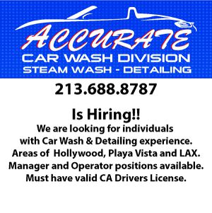 Hiring experience car wash workers. Locations are downtown LA and playa vista. for Sale in Los Angeles, CA