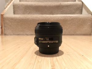 Nikkor 50mm f/1.8 lens for Sale in Reston, VA