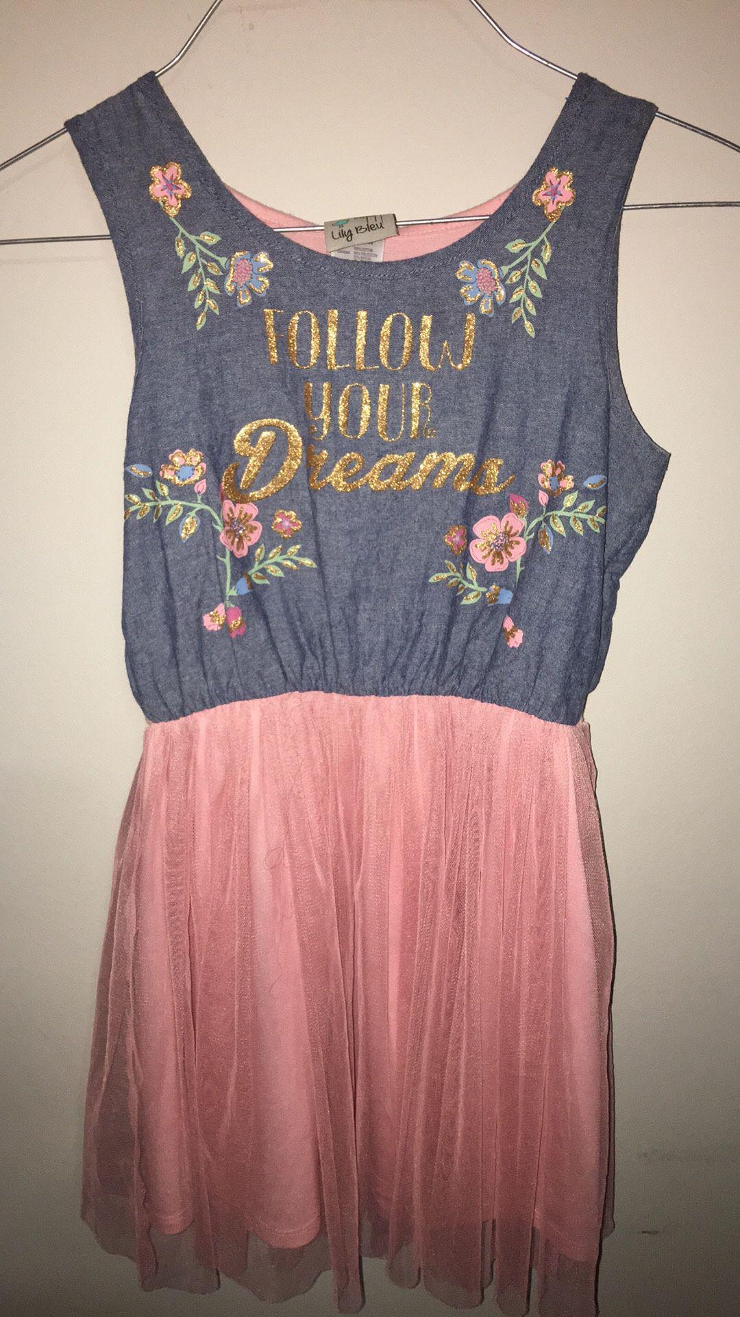 Girls size 6 Lily Bleu dress