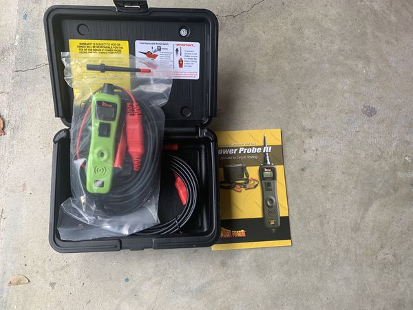 Power Probe 3 III Circuit Tester PP319FTCGRN Green Powerprobe Kit  w/Voltmeter and Accessories for Sale in Fort Lauderdale, FL - OfferUp