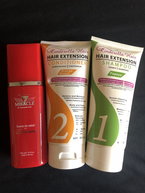 Hair Extension Care Shampoo Conditioner Leave In Mist For Sale