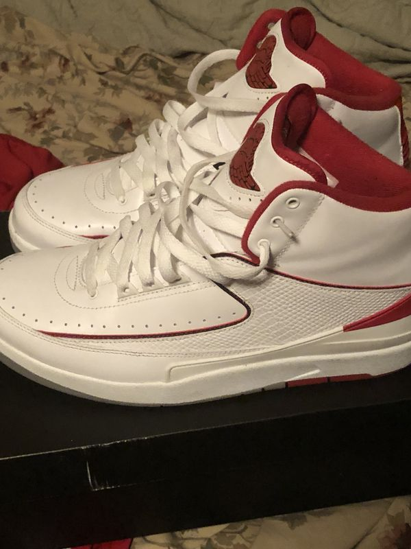 bc288ad2e754 Air jordan 2 White Red Grey size 10 for Sale in Hollywood