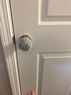 Crocheted child proof door knob covers Thumbnail