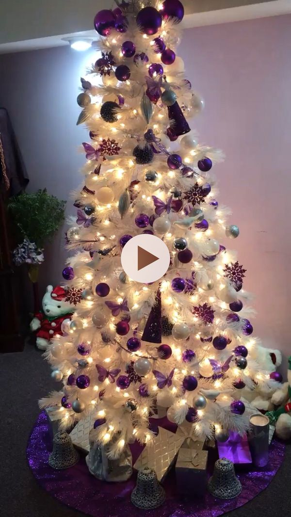7ft White Christmas Tree With All Accessories And Working Lights For