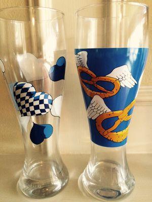 Ritzenhoff hand painted German Beer glasses for Sale in Sugar Land, TX