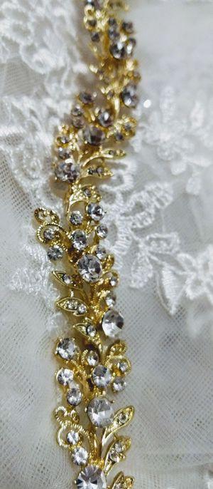 Bridal golden headpiece with stones - smart Bride for Sale in Boston, MA