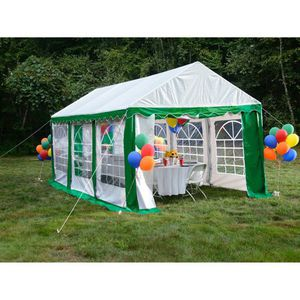 Enclosure Kit with Windows for Party Tent 10' x 20'/3m x 6m, Green/White (Frame and Cover Not Included) for Sale in Arbutus, MD