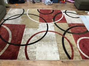 HUGE AREA RUG, Oriental, Red Tan and Olive for Sale in Silver Spring, MD
