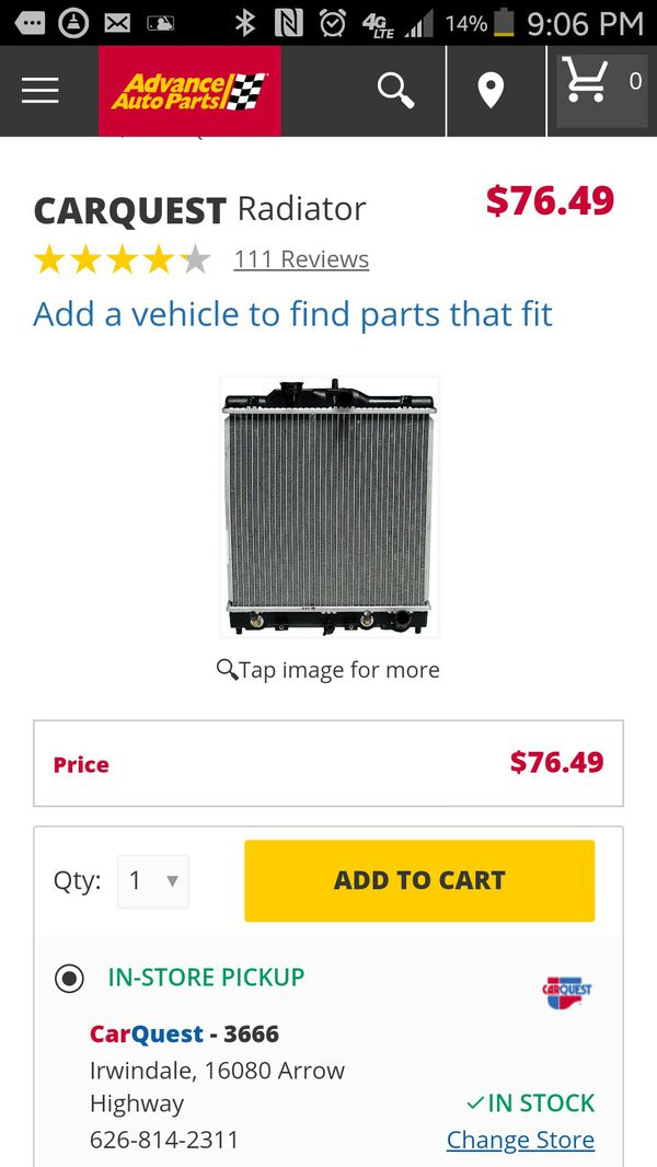 Honda Civic New Radiator In Box For Sale In Lynwood Ca Offerup
