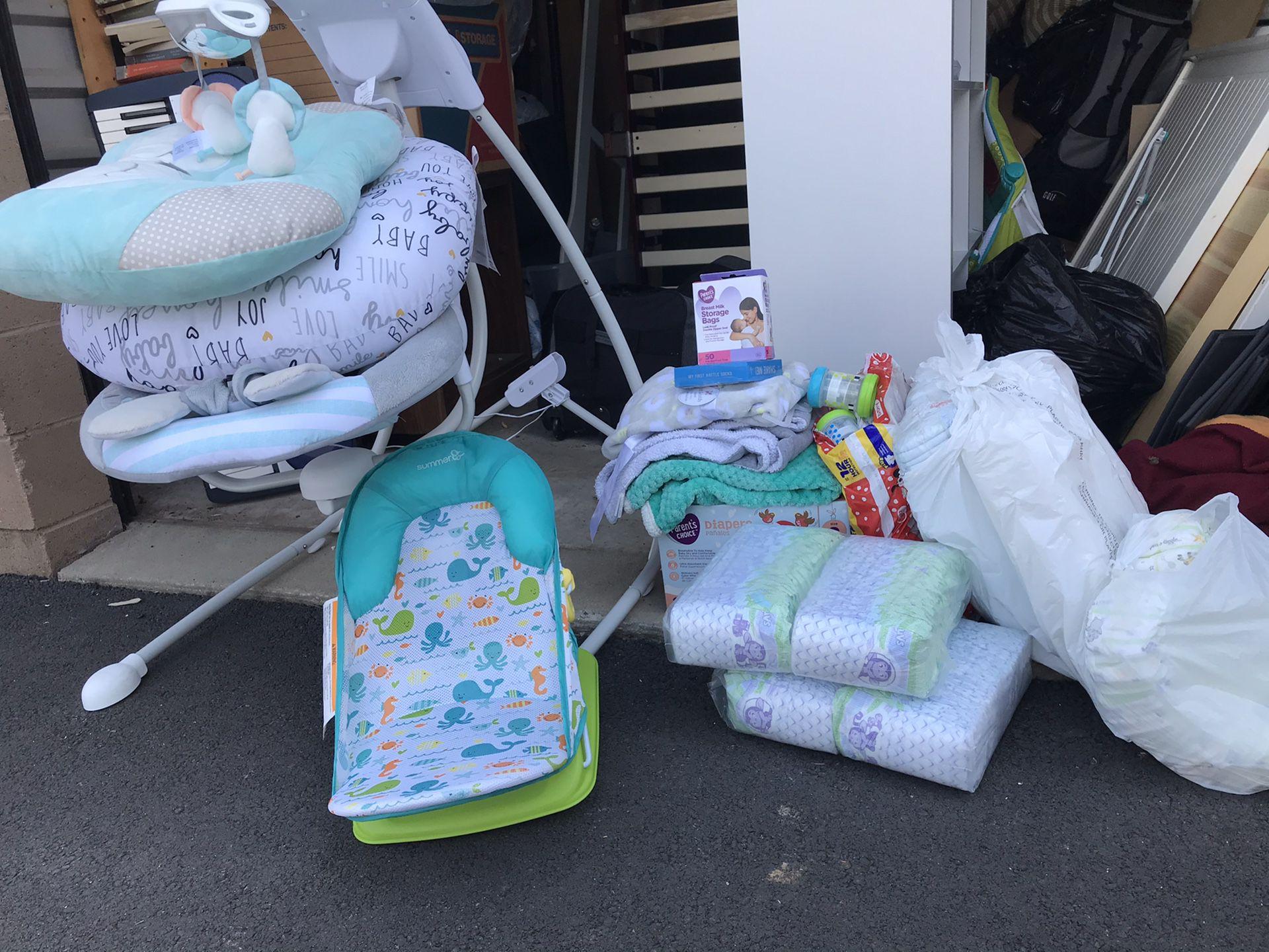 Baby swing bundle set