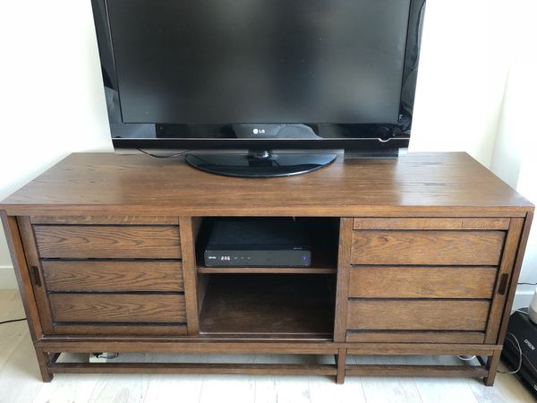 Crate Barrel 60 Media Console Clapboard Bourbon Used For Sale In San Francisco Ca Offerup