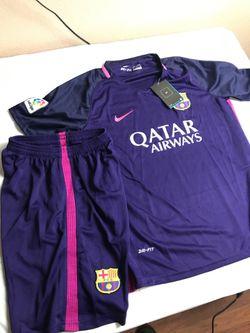 Halloween costume youth medium kids Barcelona soccer uniform Thumbnail