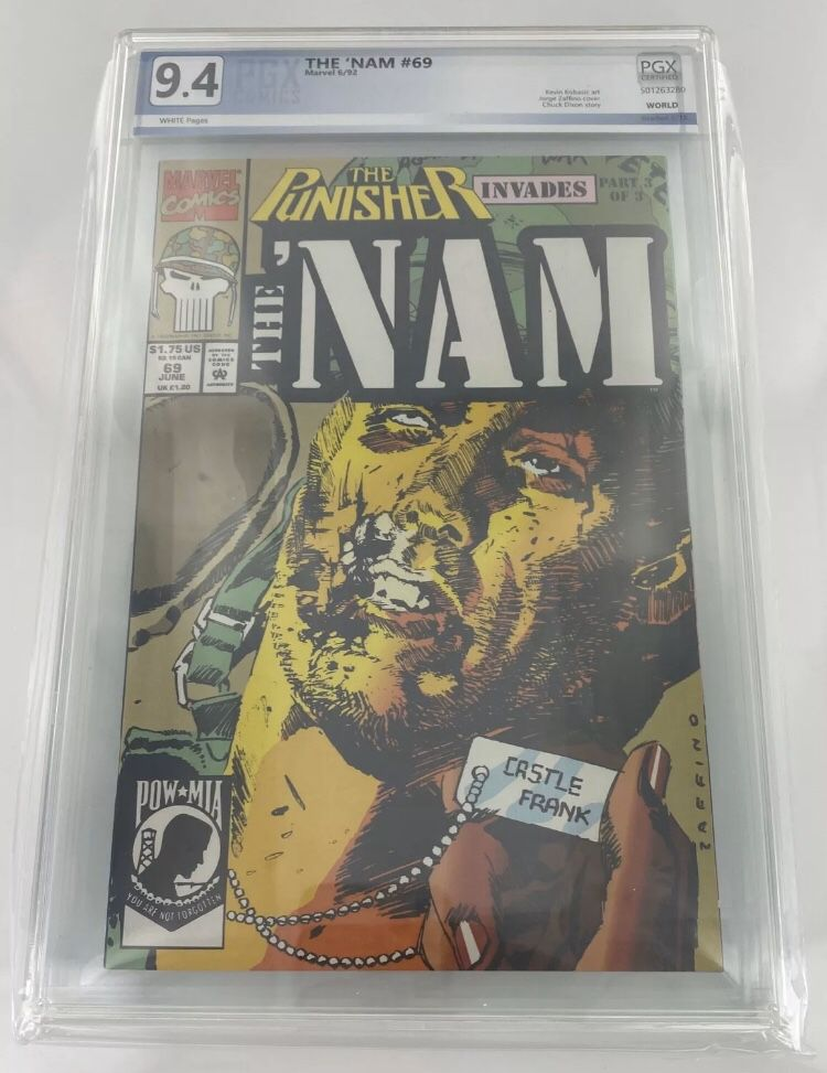 Marvel Comics PUNISHER The Nam issue #69 Comic Book PGX 9.4 Graded !!!
